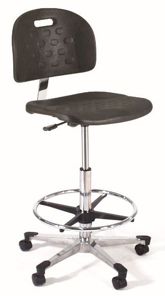 Medical stool / height-adjustable / on casters / with backrest 842SQ Intensa