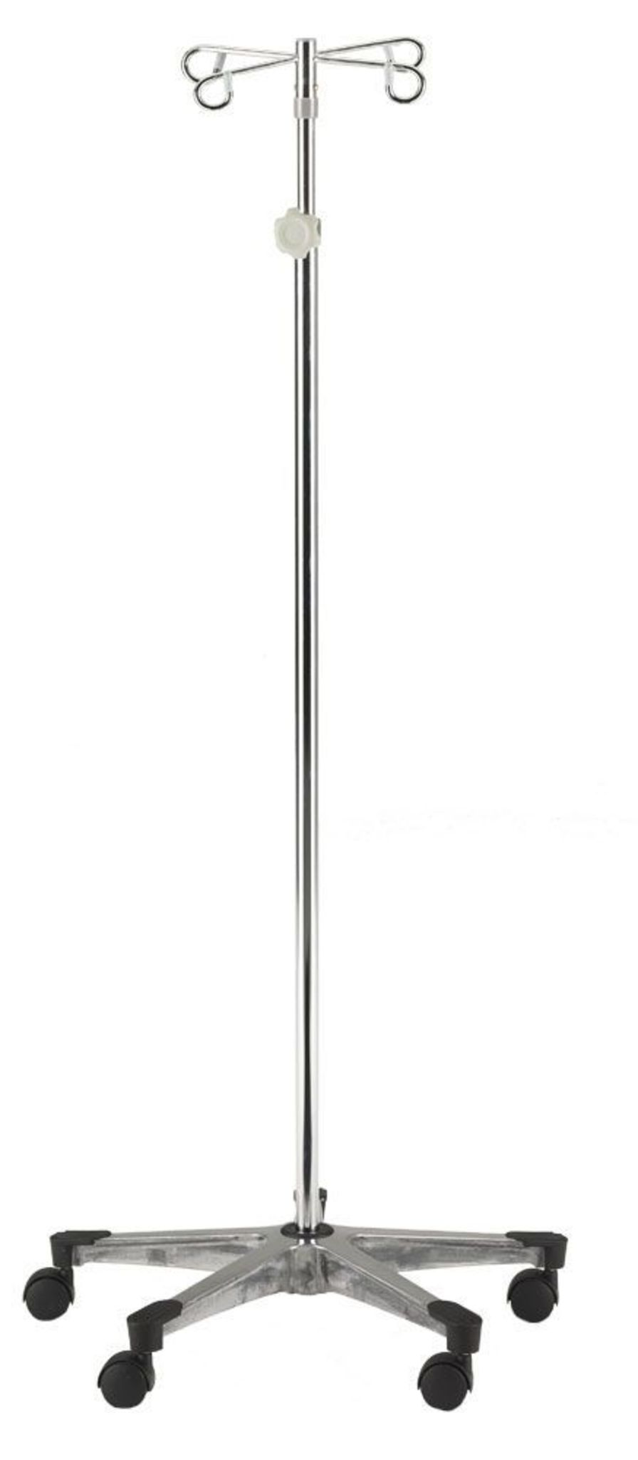 4-hook IV pole / telescopic / on casters 134-4 Intensa