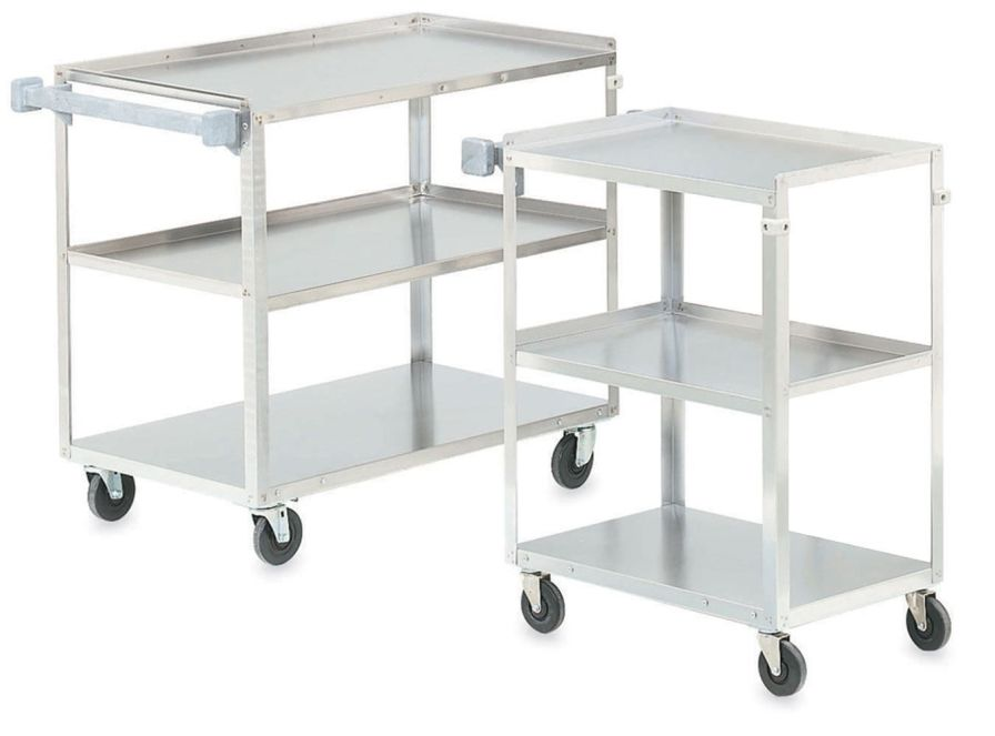 Multi-function trolley / stainless steel / 3-tray 143, 142 Intensa