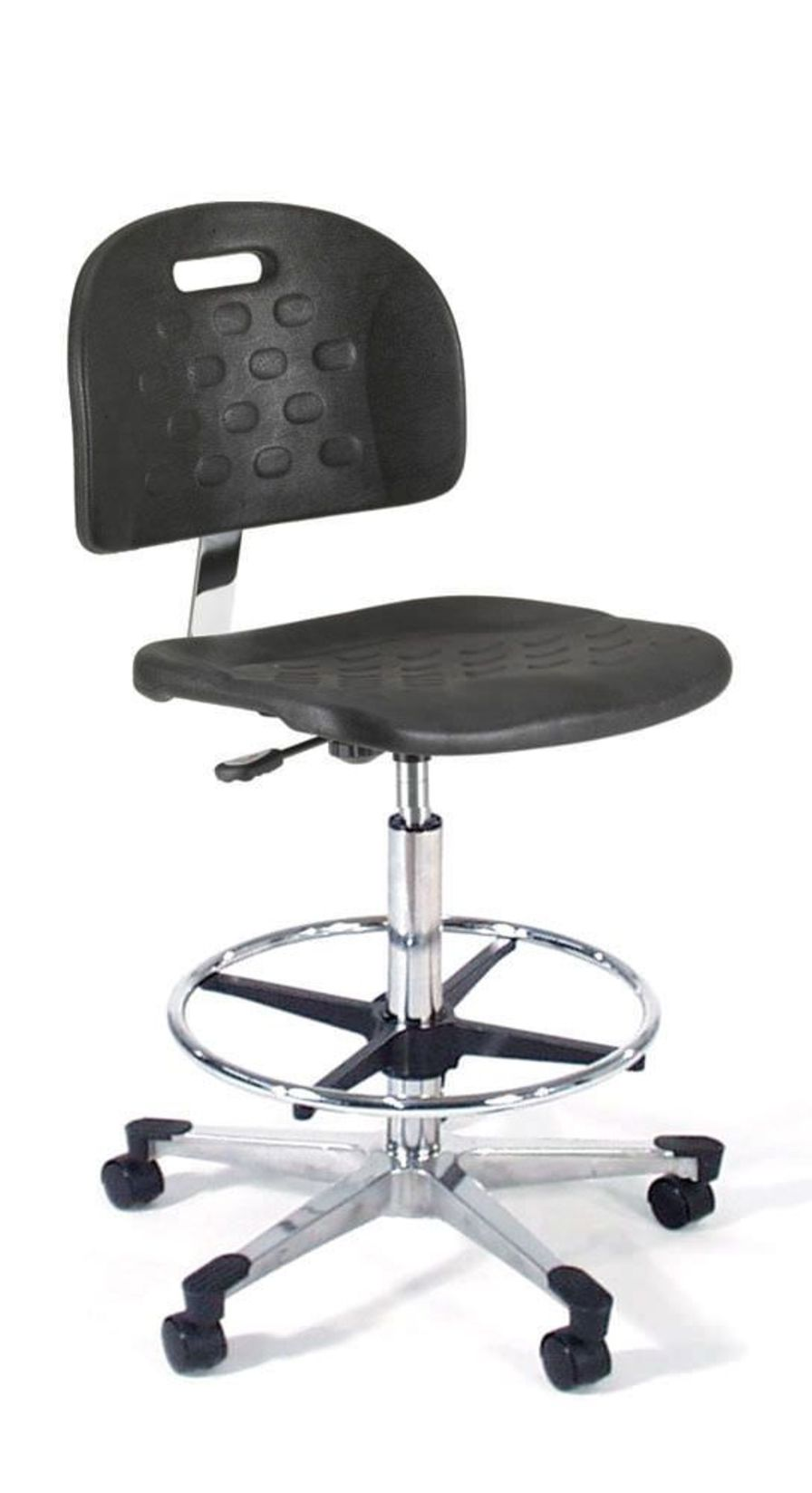 Medical stool / height-adjustable / on casters / with backrest 842 Intensa