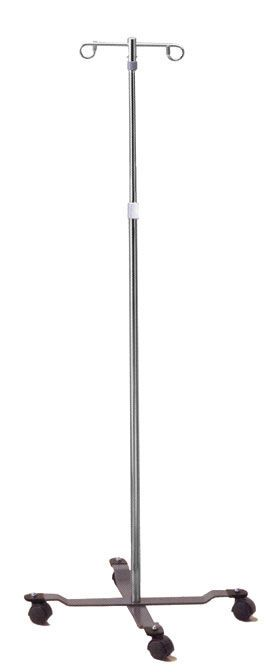 2-hook IV pole / telescopic / on casters 130-2 Intensa