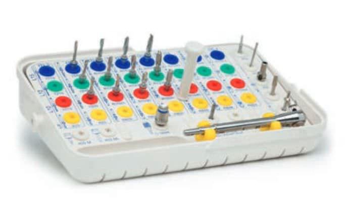 Implantology instrument kit RBS® 1 IMPLANTS DIFFUSION INTERNATIONAL