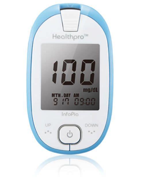 Blood glucose meter 10 - 600 mg/dL | Healthpro Infopia