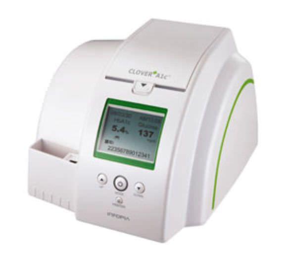 Glycated hemoglobin analyzer Clover A1c Infopia