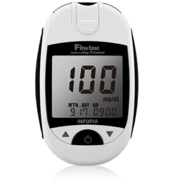 Blood glucose meter 10 - 600 mg/dL | Finetest Auto Coding Premium Infopia