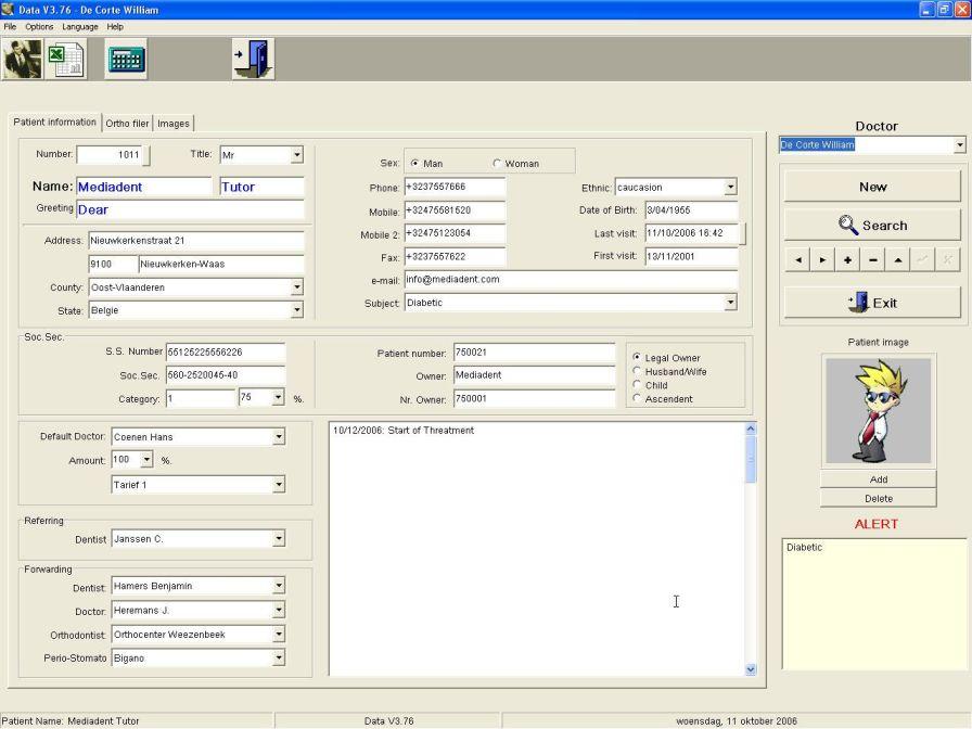 Management software / medical / dentist office Mediadent Data IMAGELEVEL