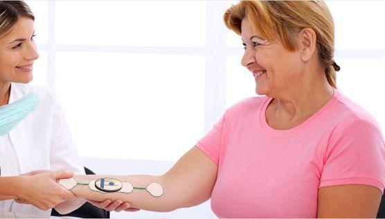 ECG patient monitor / wearable / wireless Pulsesens Intelesens