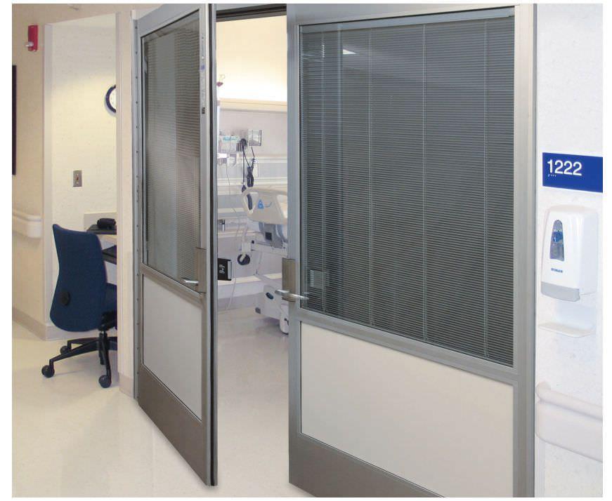 Hospital door / laboratory / swinging / hermetic Profiler® Horton Doors