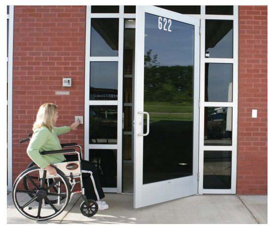 Laboratory door / hospital / swinging / automatic 7100 Horton Doors