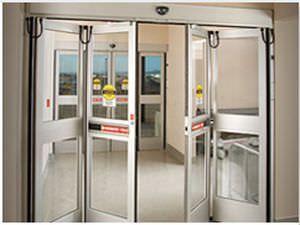 Laboratory double door / hospital / automatic / folding Horton Doors