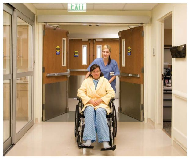 Hospital double door / laboratory / swinging / automatic Horton Doors