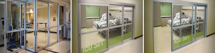 Laboratory door / hospital / automatic / sliding Profiler® Horton Doors