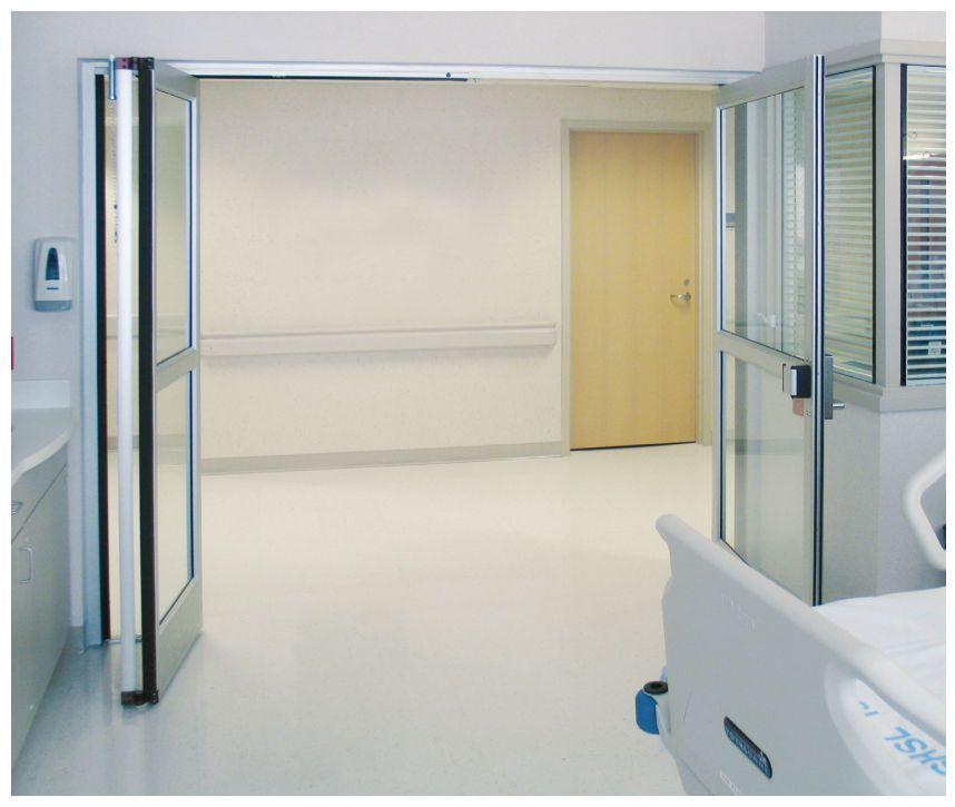 Hospital door / laboratory / folding / with glass panel Horton Doors