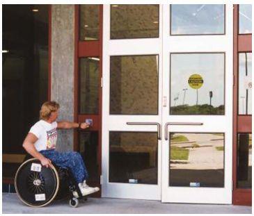 Laboratory double door / hospital / automatic / swinging 4000LE Horton Doors