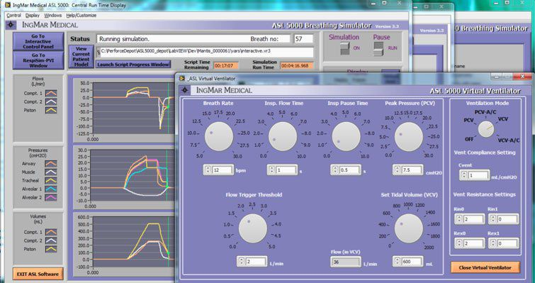 Software / artificial ventilation simulation / medical IngMar Medical