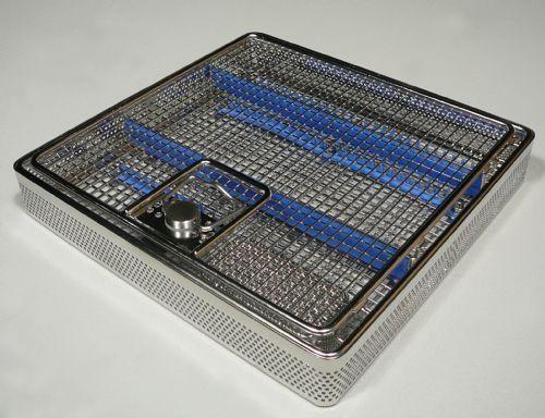 ENT instrument sterilization basket / perforated 7501350 HUPFER