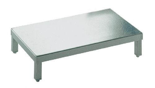 1-step step stool / stainless steel 7500294 HUPFER