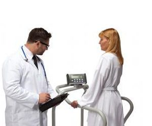 Electronic patient weighing scale / with safety handrail / with BMI calculation 454 kg | 2101KL Health o meter Professional