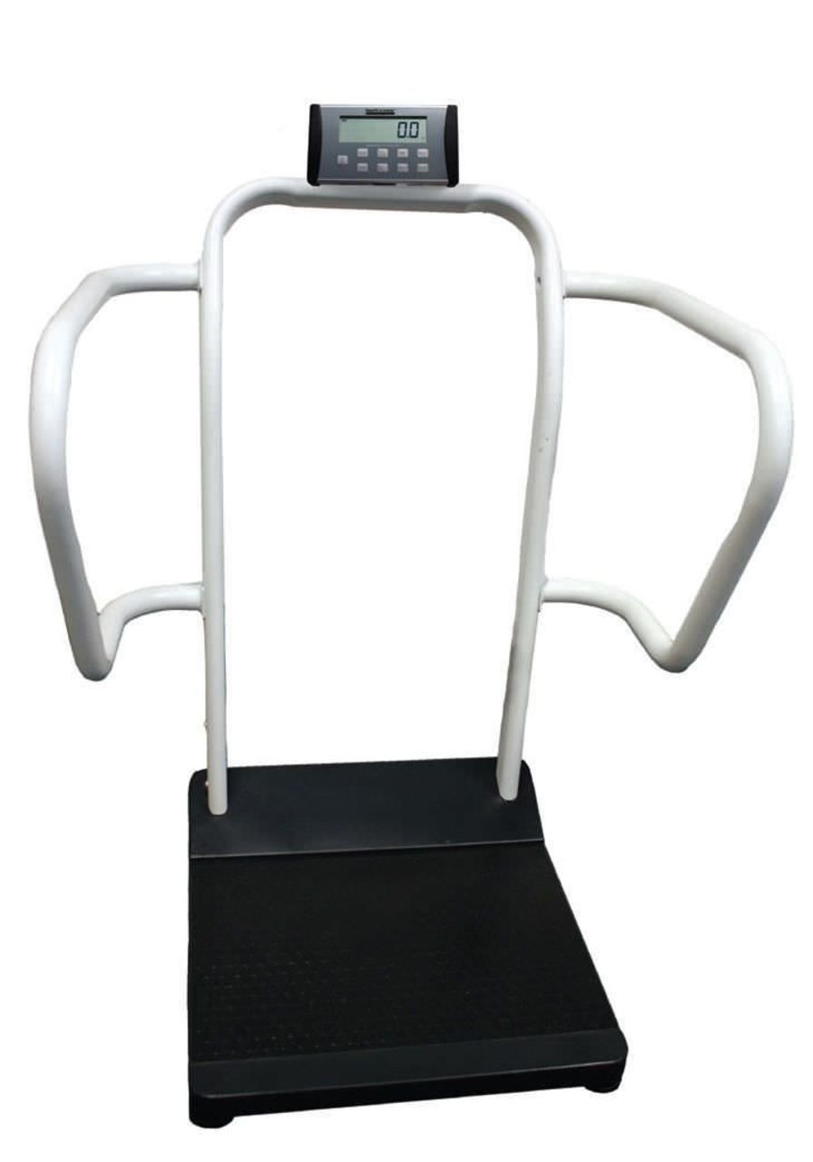 Bariatric patient weighing scale / electronic / with safety handrail / with BMI calculation 454 kg | 1100KL Health o meter Professional