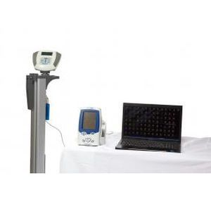 Electronic patient weighing scale / column type / with BMI calculation / with height rod 272 kg, 61 - 223 cm | ELEVATE EMRScale™ Health o meter Professional