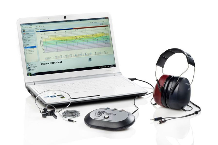 Audiometer (audiometry) / diagnostic audiometer / computer-based OSCILLA® USB-300IBS IMEDICO