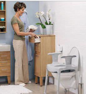 Height-adjustable raised toilet seat max. 130 kg   Swift free etac