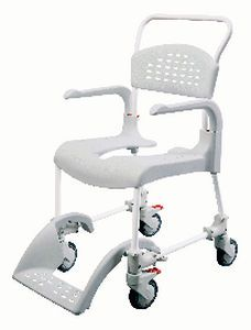Shower chair / commode / on casters / height-adjustable Etac Clean etac