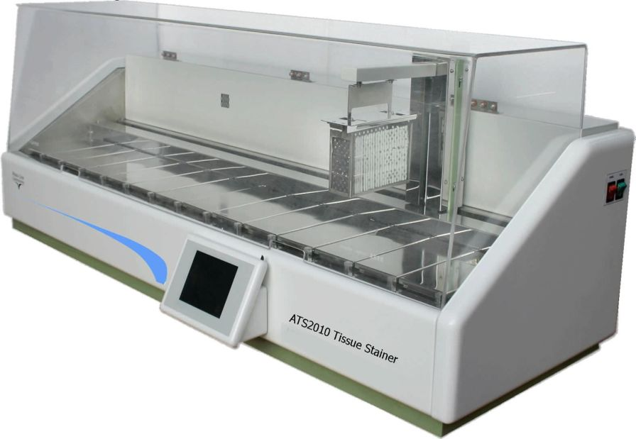 Staining automatic sample preparation system / for histology / slide / linear ATS 2010 Histo Line Laboratories
