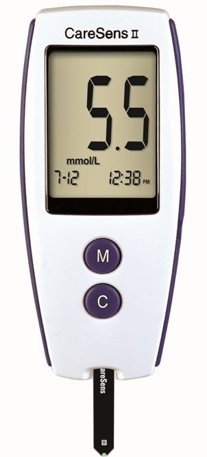 Blood glucose meter 20 - 600 mg/dL | CareSensII i-Sens