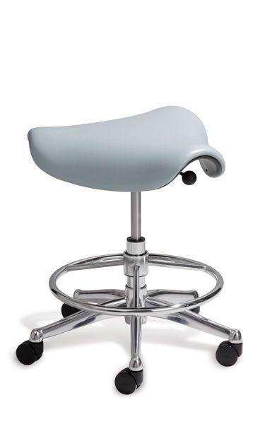 Medical stool / on casters / height-adjustable / saddle seat Saddle/Pony Saddle Humanscale Healthcare