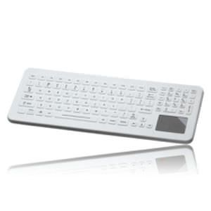 Washable medical keyboard / backlit / USB / disinfectable SLK-102-TP-FL IKEY