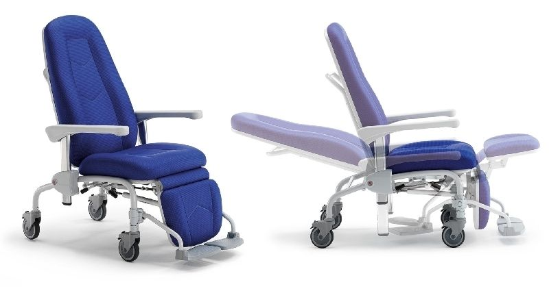 Reclining medical sleeper chair / on casters / manual MR5068 Givas