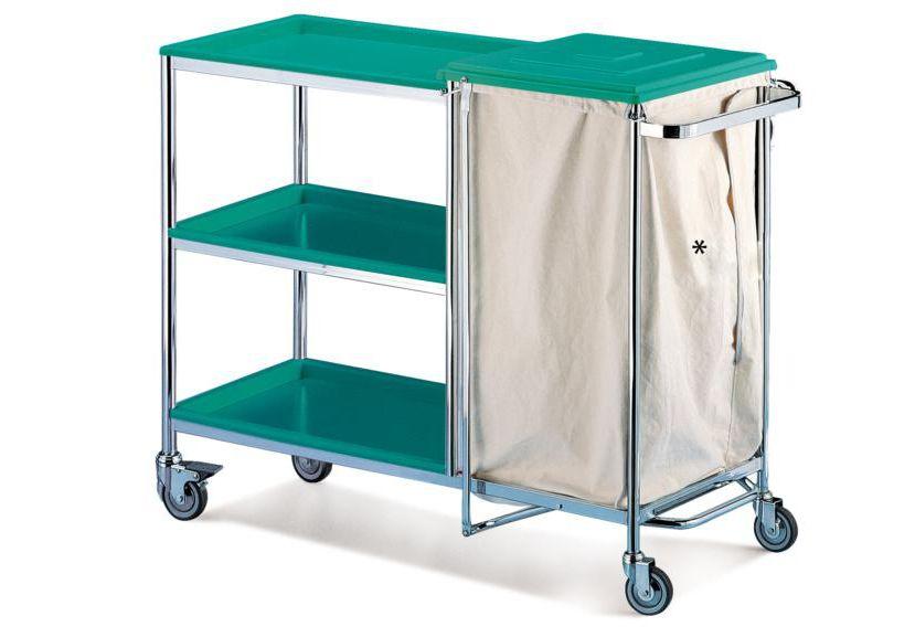 Dirty linen trolley / clean linen / with shelf / 1-bag CA9010 Givas