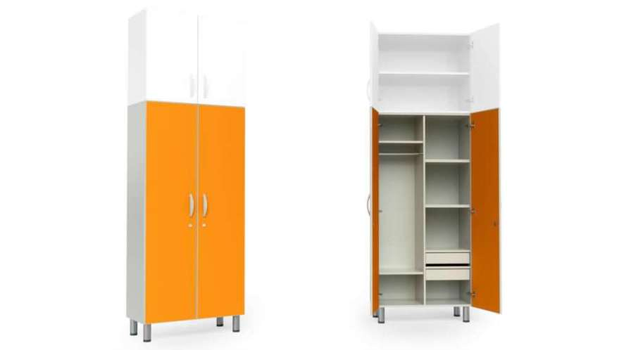 Medical cabinet / patient room / with clothes rack / with drawer HA3235 Givas