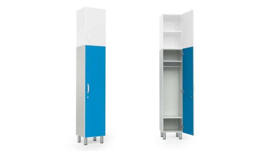 Medical cabinet / patient room / with clothes rack / 1-door HA1105 Givas