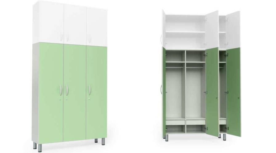 Medical cabinet / patient room / with clothes rack / 3-door HA1310 Givas