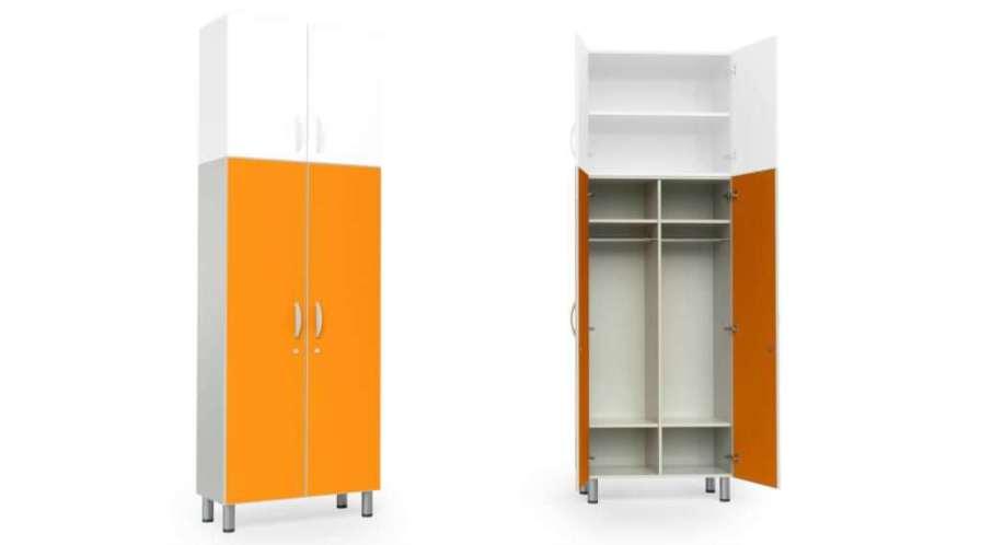 Medical cabinet / patient room / with clothes rack / 2-door HA1205 Givas