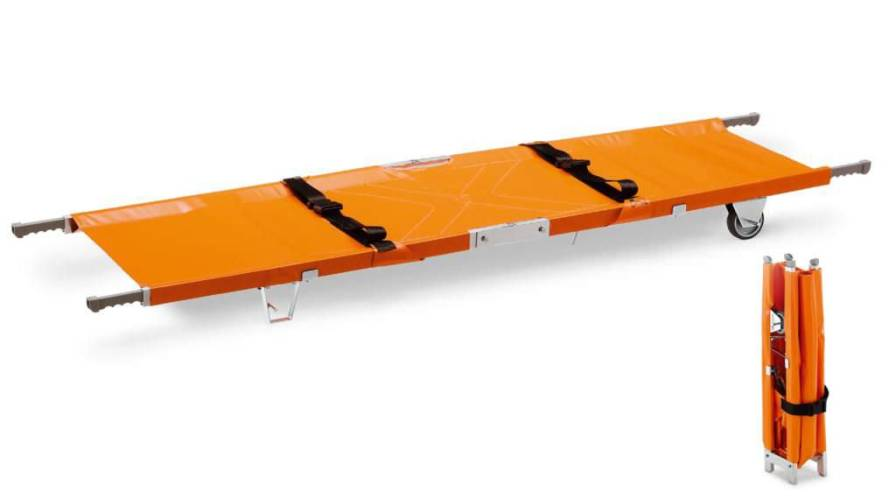 Folding stretcher / on casters / 1-section BC0011 Givas