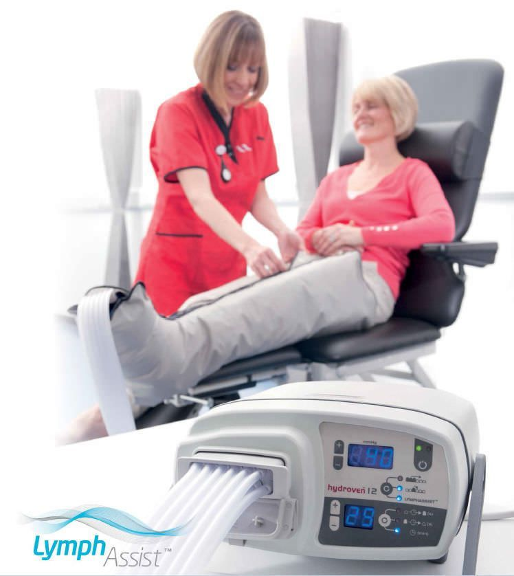Pressure therapy unit, (physiotherapy) with leg garment / 12 independent cells hydroven® 12 Huntleigh Diagnostics