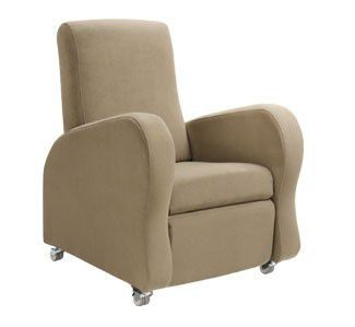 Medical sleeper chair / on casters / reclining / manual 125 kg | BRADWELL1 Healthcare Design