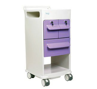 Bedside cabinet / for healthcare facilities / with shelf / with drawer Affiniti BLAF01 Healthcare Design