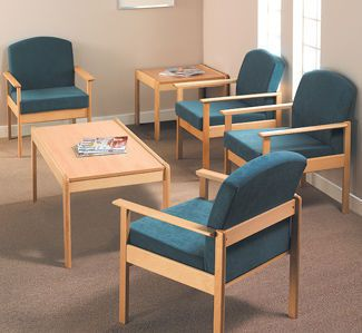 Waiting room chair / with backrest Thatcher T1011CUR Healthcare Design