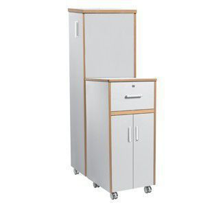 Bedside cabinet / for healthcare facilities / with drawer / on casters Valletta BLVA01 Healthcare Design
