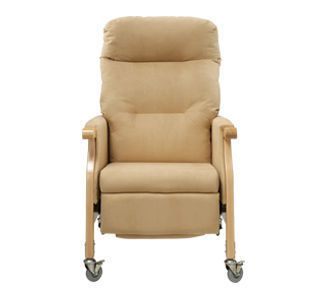 Medical sleeper chair / on casters / lifting / reclining / with legrest 158 kg | Faraday F62 Healthcare Design