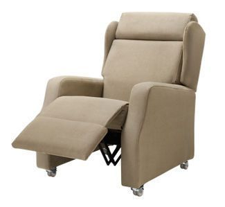 Reclining medical sleeper chair / lifting / with legrest / on casters WOODCOTE1 Healthcare Design