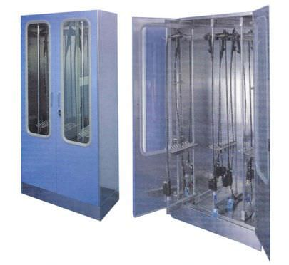 Medical cabinet / endoscope / for healthcare facilities / stainless steel AS 300 IT Hysis Medical