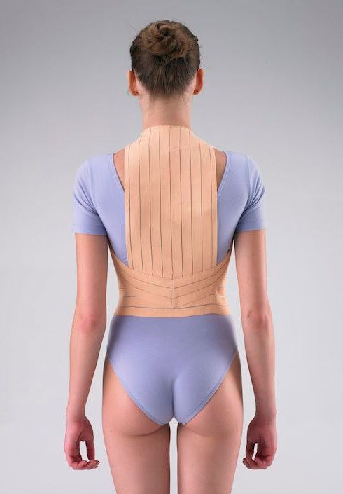 Posture corrective orthosis (orthopedic immobilization) / vertebral hyperextention / with flexible stays / flexible HCLE300 Huntex Corporation