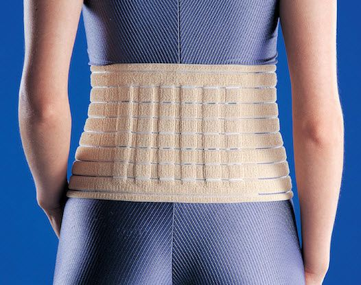 Lumbar support belt / with reinforcements MWAE920 Huntex Corporation