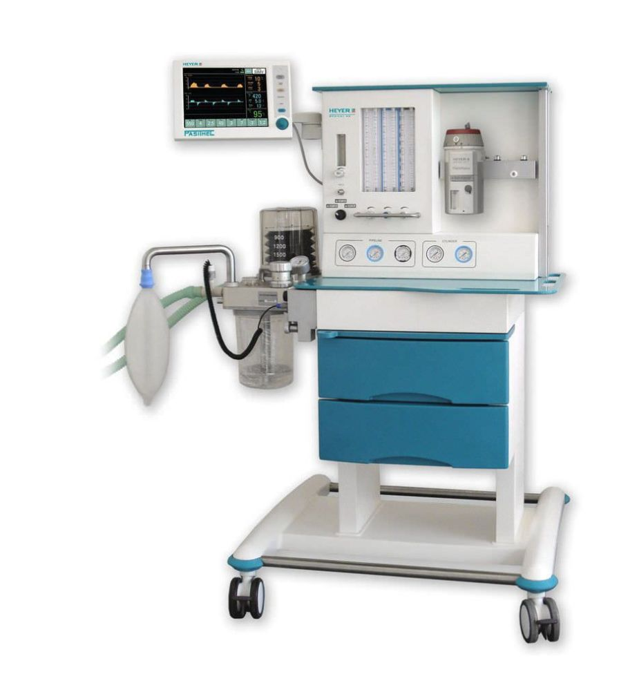 Anaesthesia workstation with tube flow meter / pediatric Pasithec HEYER Medical