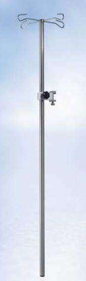 4-hook IV pole / rail-mounted 557-3100 HEYER Medical